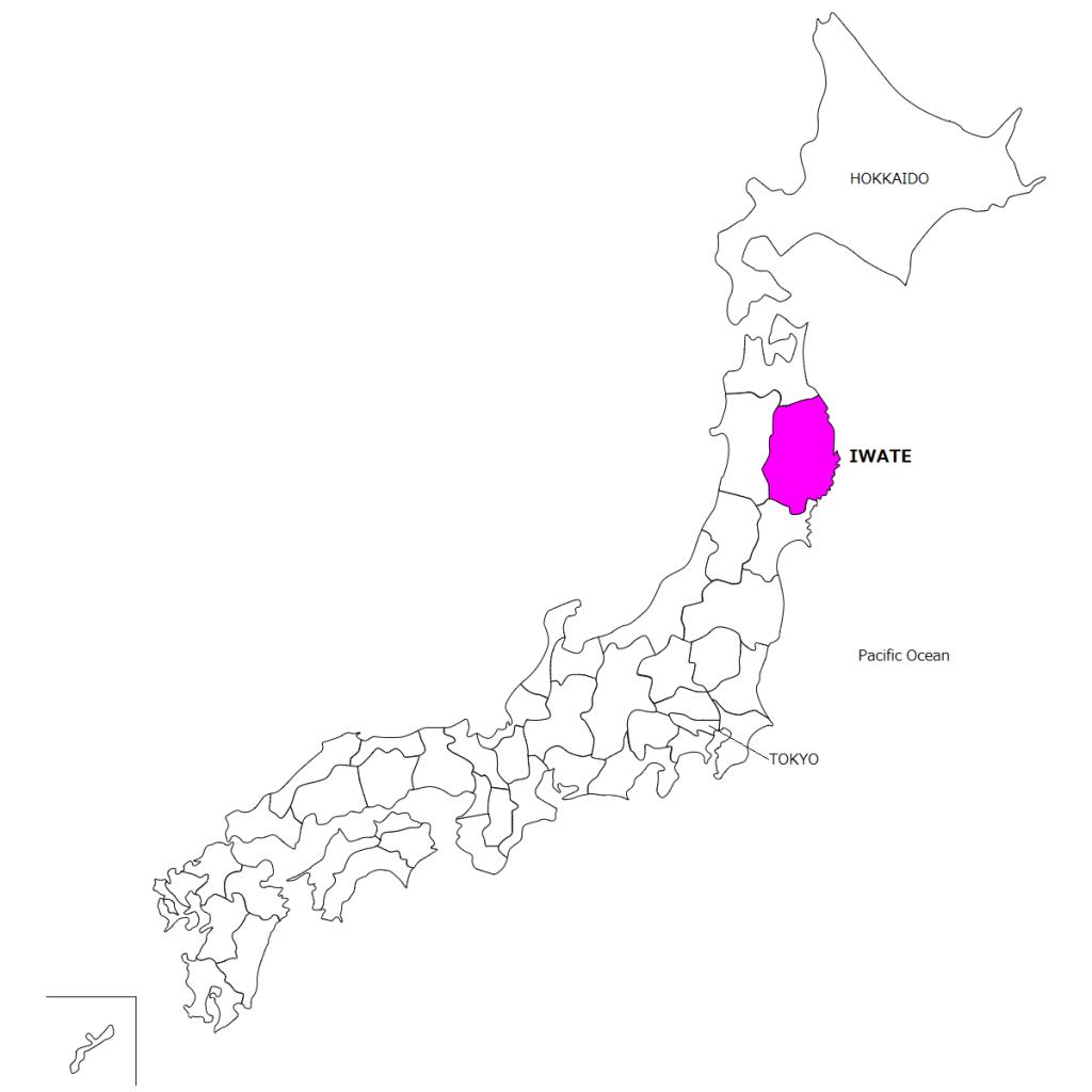 日本地図英語用
