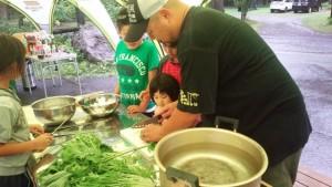 小野寺さんと子ども調理