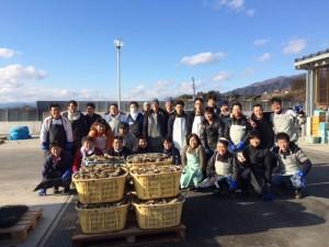 陸前高田かき漁集合写真